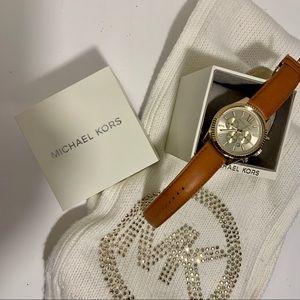 Michael Kors NWT Lexington Gold Chronograph Watch